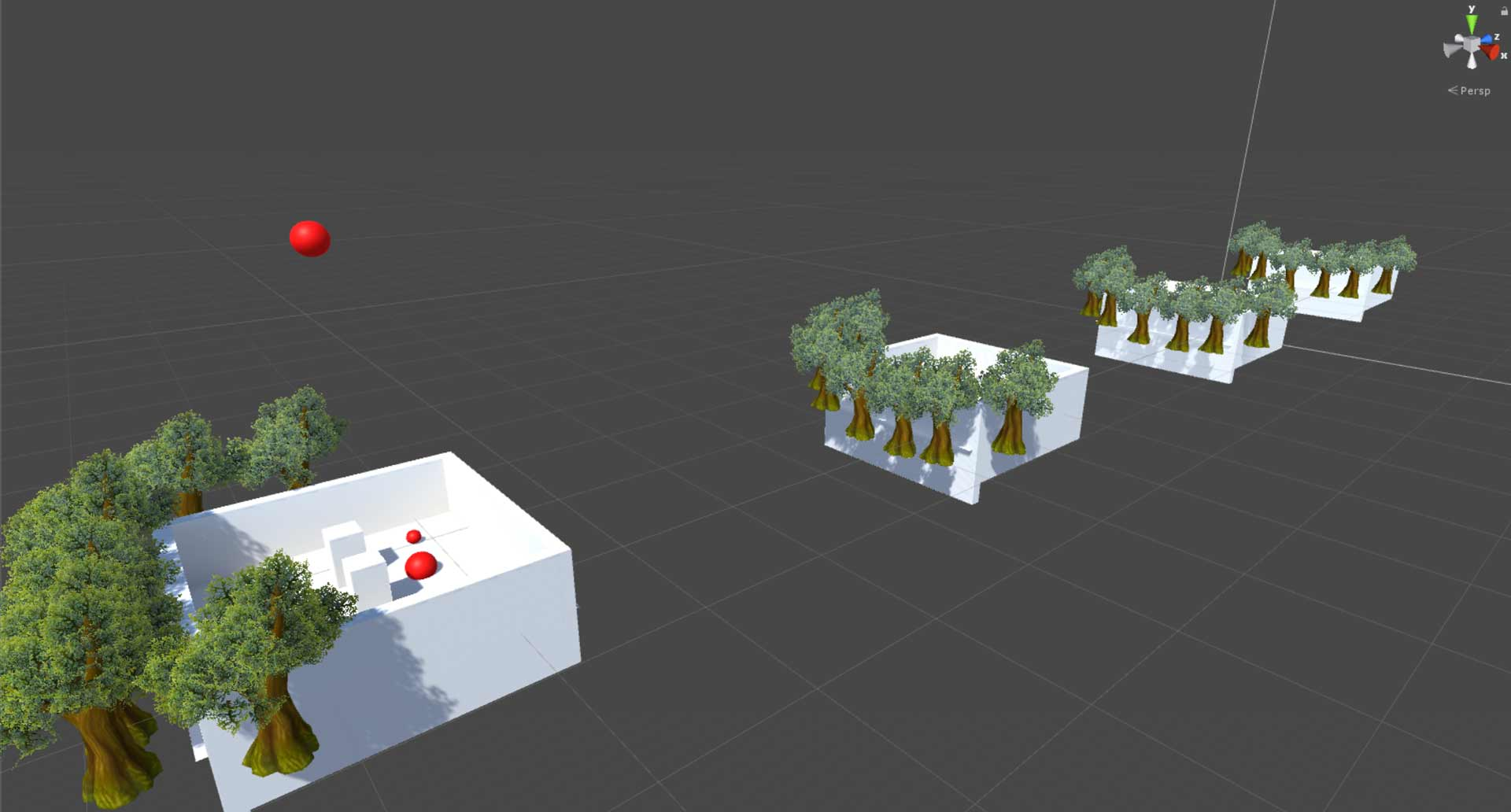 Screenshot of Duplicated Scenes to Create Impossible Spaces in Unity