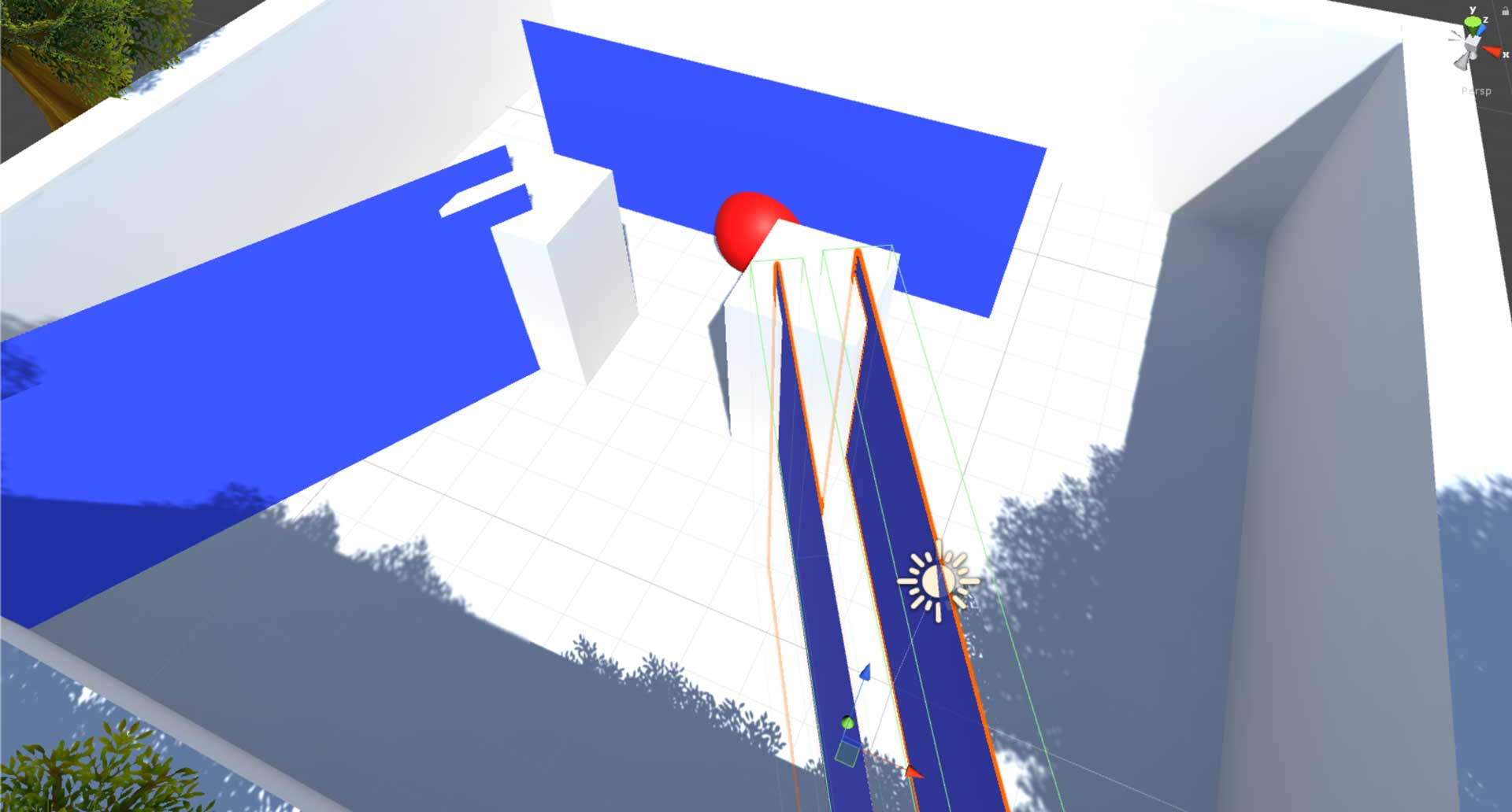Blue Planes to Represent the Teleportation Colliders