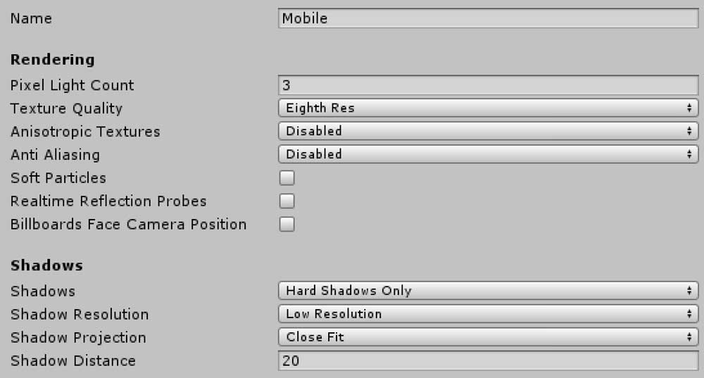 Optimized Mobile Build Settings for Unity