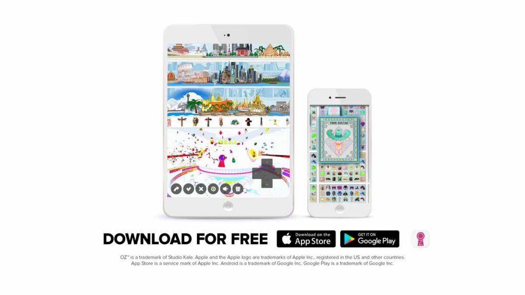 Oz in the App Store Mockup
