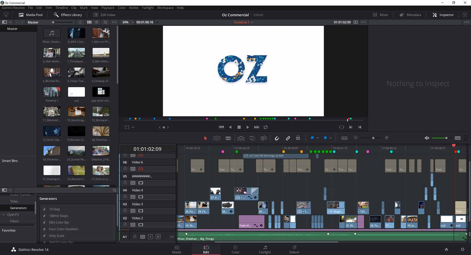 DaVinci Resolve (lite) Screenshot