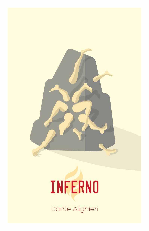 Dantes Inferno Salvador Dali Flat Design